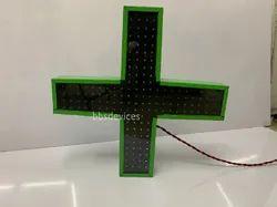 Metal LED Medical Plus Sign