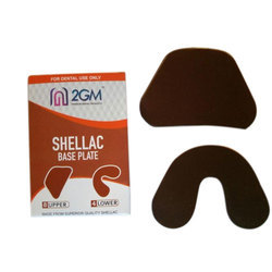 2GM Brown / Pink / Silver Shellac Base Plate, 110 Gms Appx., Packaging Type: Packet