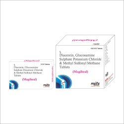 Diacerein, Glucosamine Sulphate Potassium Chloride & MSM