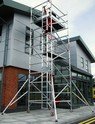 Aluminum Double Width Mobile Scaffold with Stair