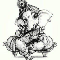 Lord Ganesha Pencil Sketch At Rs 1000 Piece