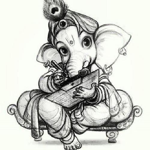 Pencil Sketches Ganpati