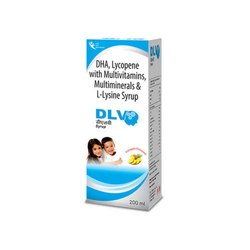 DHA Lycopene with Multivitamin Multimienrals and L-Lysine Syrup, 200 Ml, Prescription