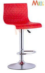 MBTC Meshot Bar Stool Chair in Red