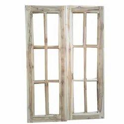 Brown Wood Window Shutter