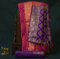 EthnicJunction Patola Woven Silk Saree With Unstitched Heavy Saree With Blouse Piece