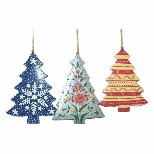Paper Mache Christmas Ornament.Christmas Decorations Set