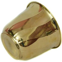 Najam Meatl 8/12 Inch Brass Drinking Glass, Size: 8x12 Inch, Shape: Round