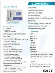 Contec Ecg Machine, Digital, Number Of Channels: 3 Channels