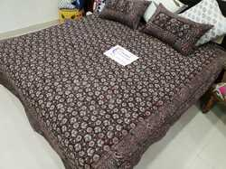 100% Cotton Double Bedsheet Hand Block Print with Pillow Cover