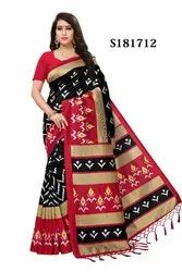 Kalamkari Mysore Silk Saree With Jhalor