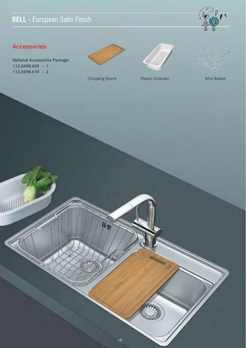 Excellent European Satin Finish Kitchen Sink Frame Bcx 620 38 32 Home Interior And Landscaping Ologienasavecom