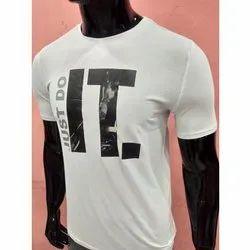 Cotton Printed White Men T-Shirt