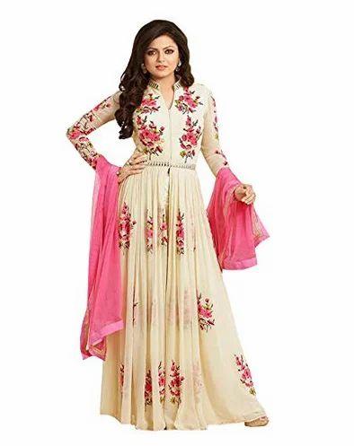 461f7dd958 White Designer Anarkali Suit at Rs 1199.00 /piece | Anarkali ...