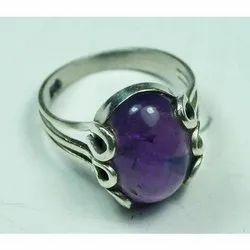 Amethyst Silver Rings