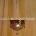 Deshilp Overseas Silver T-light Hanging