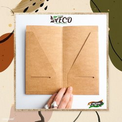 Eco Kraft Paper Pocket Folder, For Office