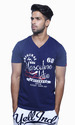 Cotton Printed Casual Wear Trendy V- Neck T Shirt