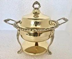 Mini Brass Ambassador Chafing Dish