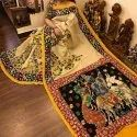 Embroidered Party Wear Ladies Kalamkari Silk Sarees, Packaging Type: Packet