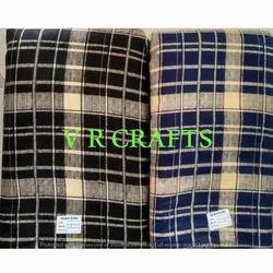 Rayon 12 Kg Check Print Fabric