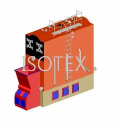 Compact Modular Moving / Reciprocating Grate Solid Fuel Steam Boiler