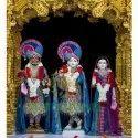 Marble Radha Krishna Balram White Statue