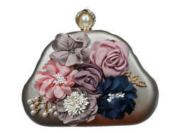 Female Copper Manansh designer flower Clutch Sling Bag, MNS71