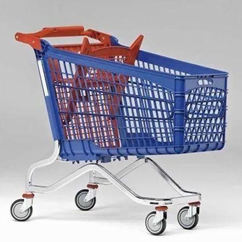 Global 50-100 kg Plastic Trolley, Capacity: 65 Ltr, For Supermarket