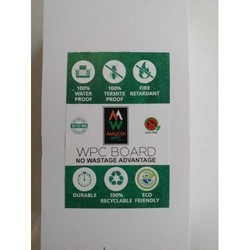 Amulya White WPC Plywood Board, For Door, Size: 8x4 Feet (lxw)