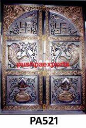Carving Silver Temple Door