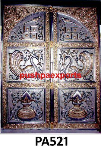 Carving silver temple door doors and windows pushpa exports in