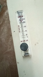 Acrylic Body Rotameter with Valve