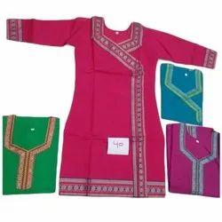 Stitched Bordered South Handloom Cotton Kurti