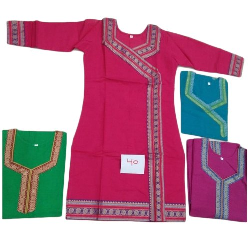 XL Machine Wash Stitched Bordered South Handloom Cotton Kurti
