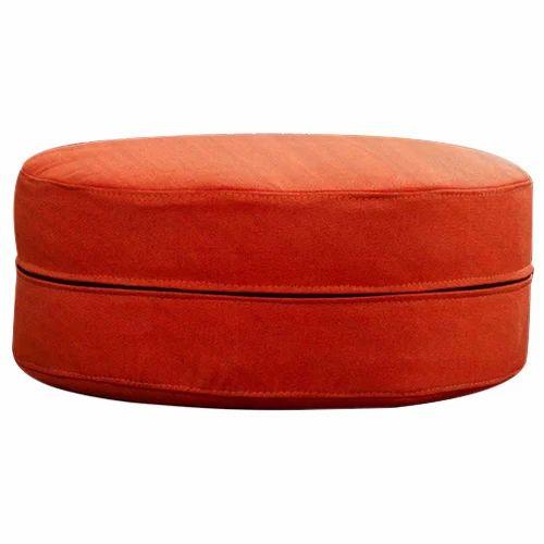 Orange Round Storage Ottoman Gol Deewan Gllamor Brand Of