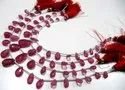Natural Ruby Pear Shape Briolette Beads Size 5x9mm to 6x10mm Strands 8 Inches.