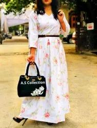 Floral Printed Cotton Gown