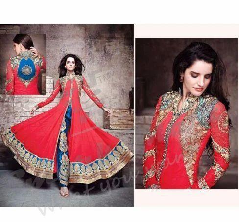 66803fe40f Indian Pakistani Designer Anarkali Salwar Suit at Rs 1999 /piece ...