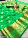 Green Banarasi P2466294 Silk Saree For Women