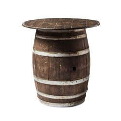 Std. Antique Wooden Barrel Bar Table