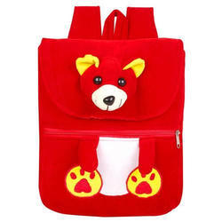 Red Teddy Half Flap Kids Bag
