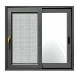 Aluminium Powder Coated Square Aluminum Sliding Window, For Home, Size/Dimension: 2.5 X 2.5 Feet