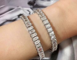 Emerald Cut Moissanite Bracelet