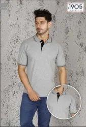 Mafatlal Premium T-Shirt (GREY BLACK)
