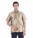 Men's Golden Silk Shirt