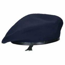 Navy Beret Cap