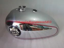 New Bsa Gold Star Silver Painted Chrome Petrol Tank With Cap Black Tank Badges Tap