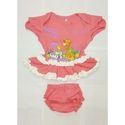 Cartoon Printed Baby Girl Top and Shorts