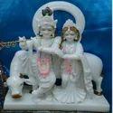 Radha Krishna Cow Statue